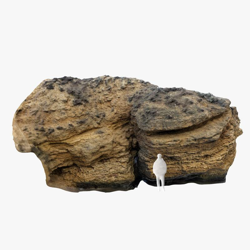 limestone boulder 3d model turbosquid