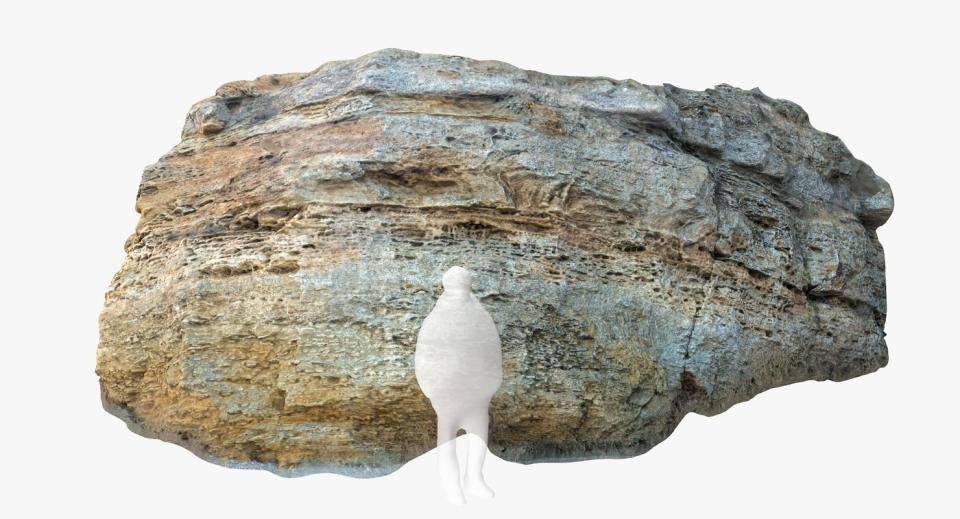 sedimentary rock 3d model turbosquid