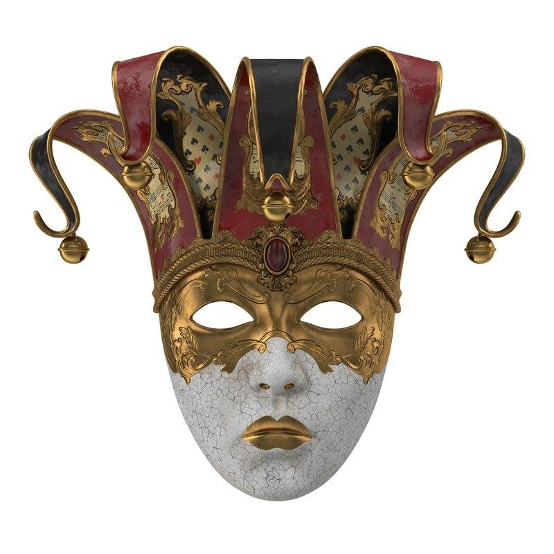 carnival mask 3d model turbosquid