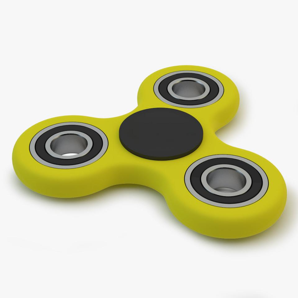 3d model of a fidget hand spinner