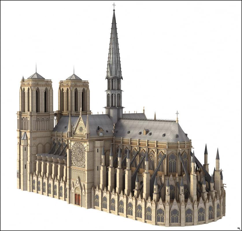 notre dame 3d model turbosquid