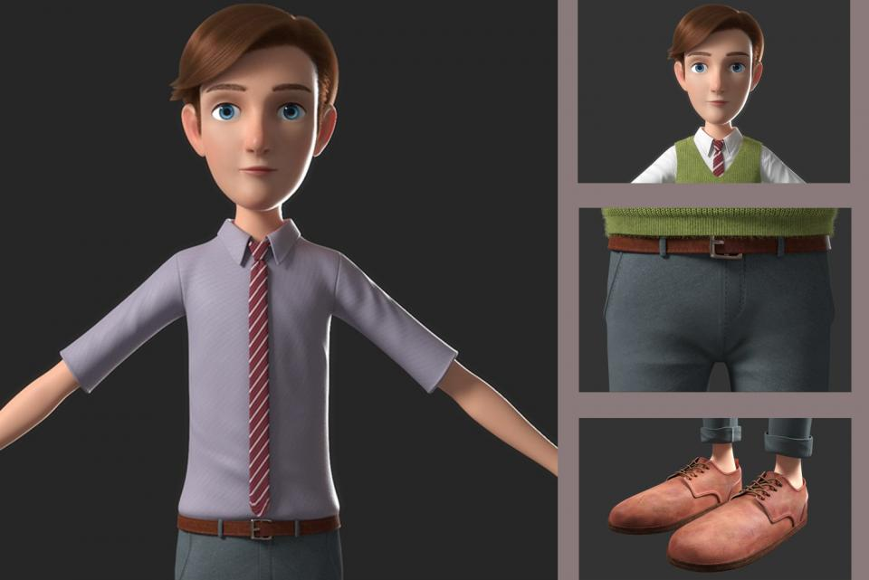 toon male character 3d model turbosquid