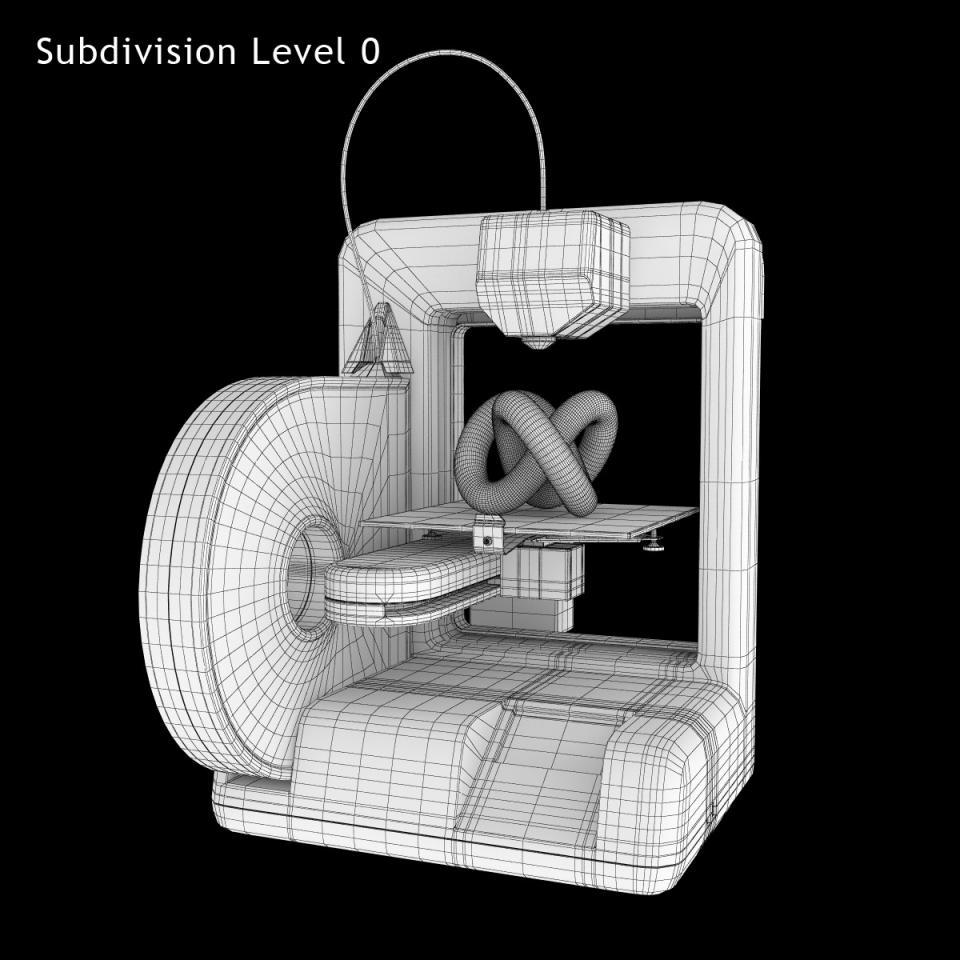 cube 3d printer 3d model