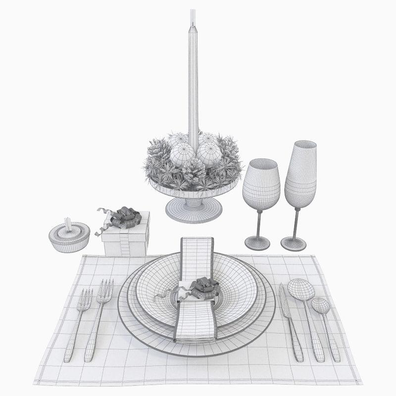 new year table 3d model turbosquid