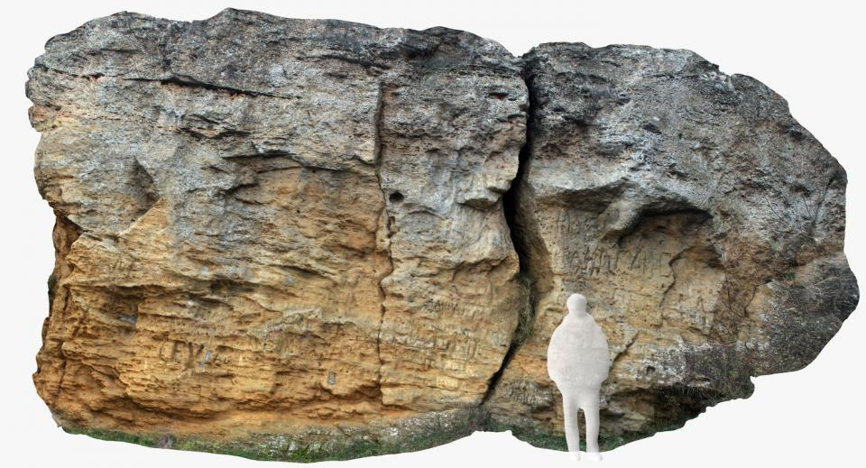 weathered limestone boulder 3d model turbosquid