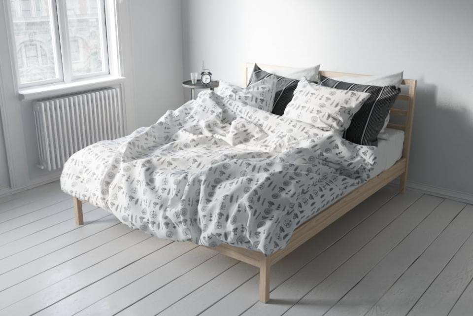 wooden bed evermotion 3d model turbosquid