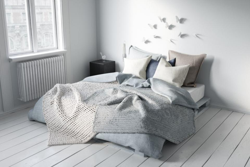 scandinavian bed 3d model turbosquid