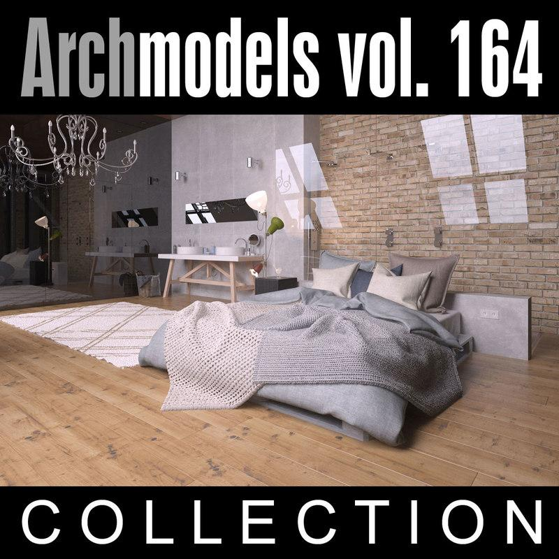 archmodels beds 3d model evermotion turbosquid