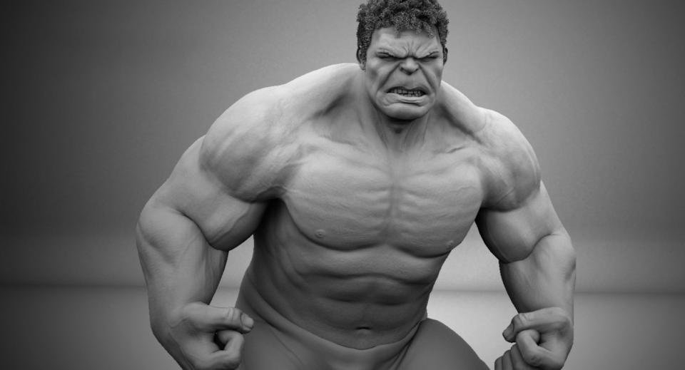 hulk anger 3d model turbosquid