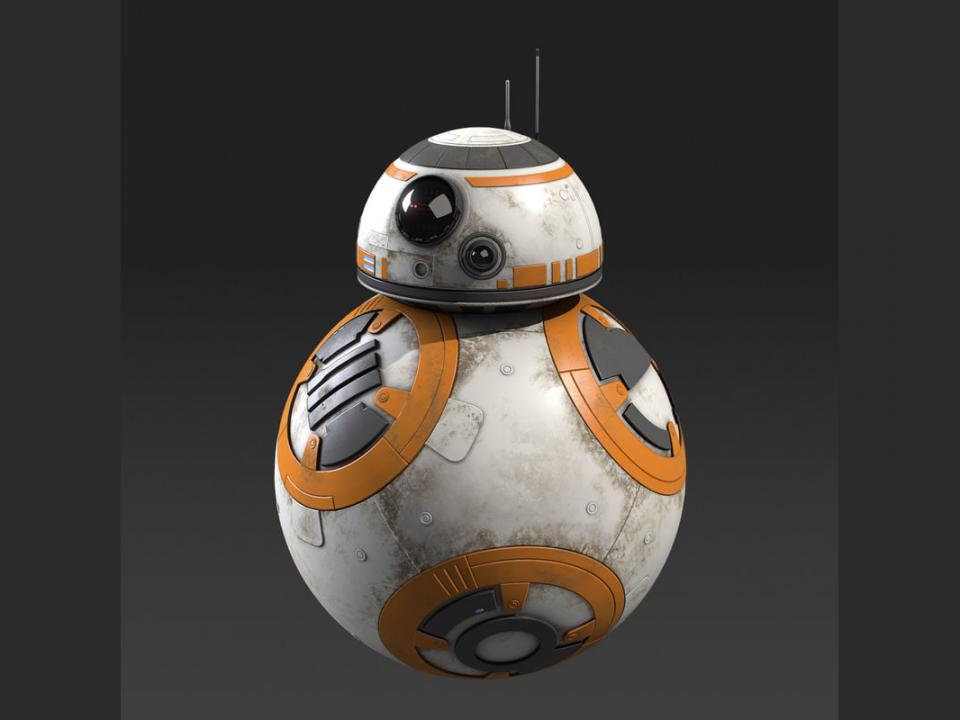 bb8 star wars 3d model turbosquid
