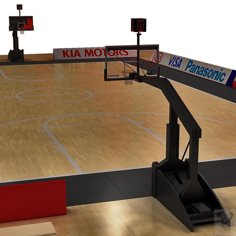 basketball playing surface 3d model turbosquid
