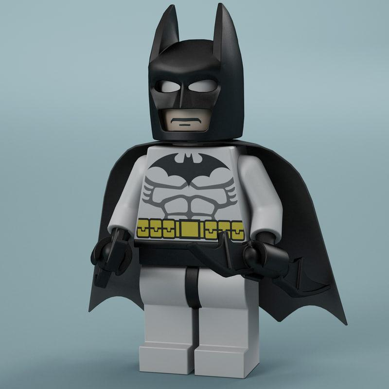 3d model lego Batman