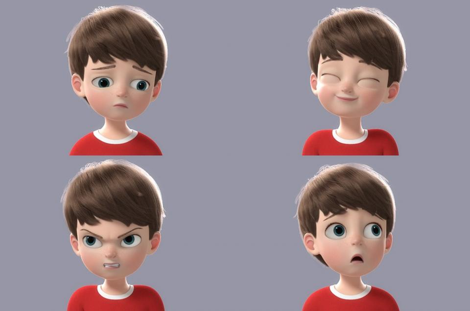 boy in cartoon style 3d model turbosquid