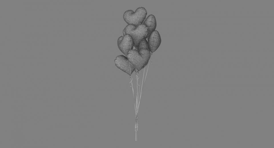 love balloons 3d model turbosquid