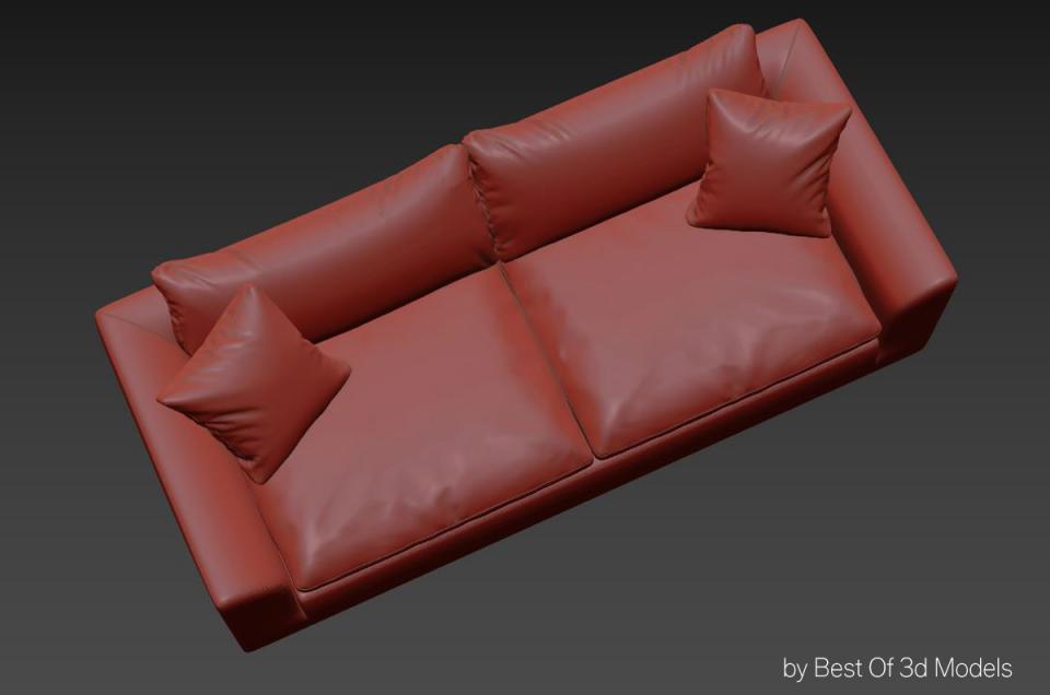living room seating 3d model