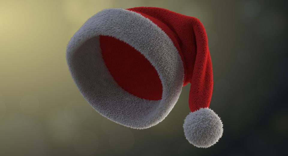winter holiday hat 3d model turbosquid