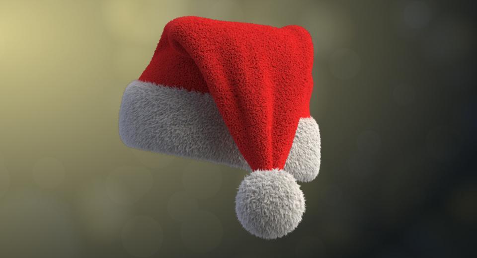 christmas hat 3d model turbosquid