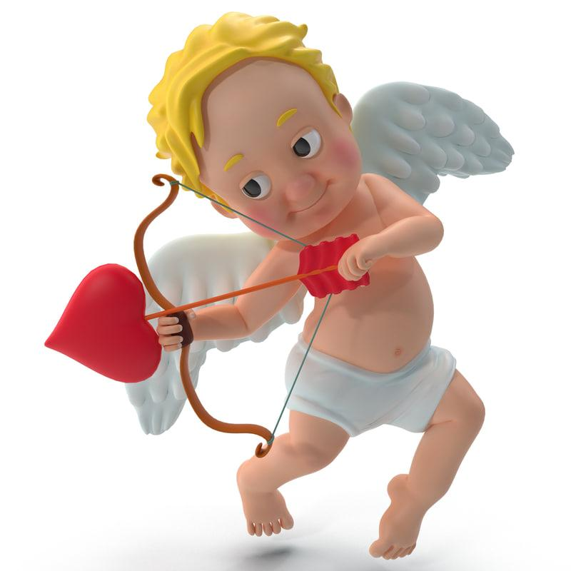 cupid 3d model turbosquid