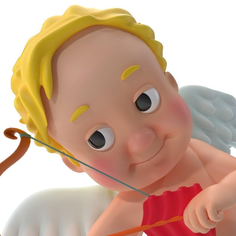 angel of love 3d model turbosquid