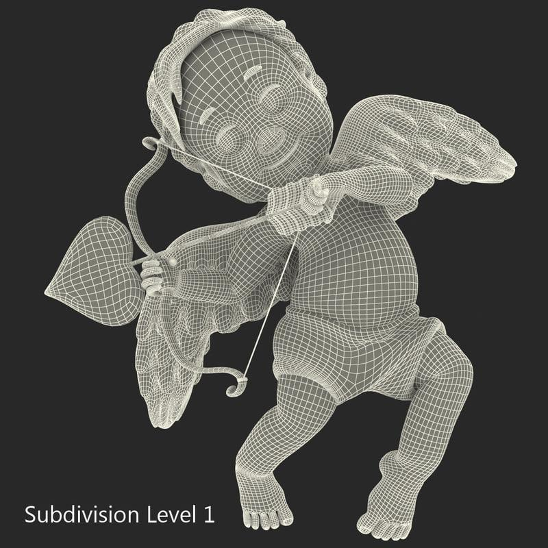 cartoon cupid 3d model turbosquid