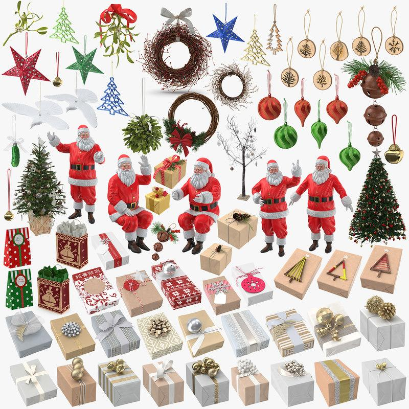 christmas collection 3d model turbosquid