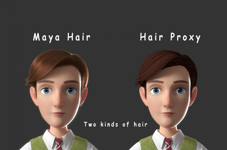 cartoon male hair 3d model maya turbosquid