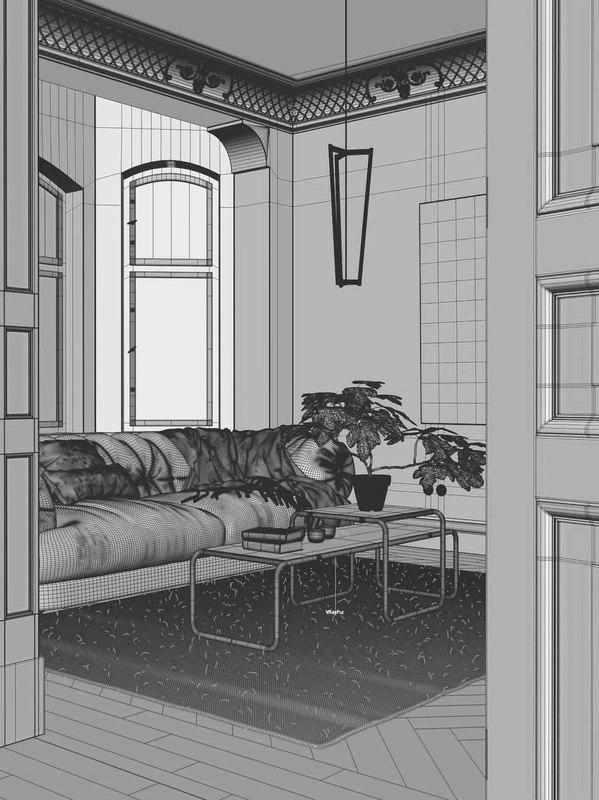 classic apartment 3d model turbosquid