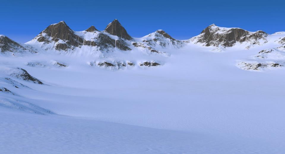 snowy area 3d model turbosquid