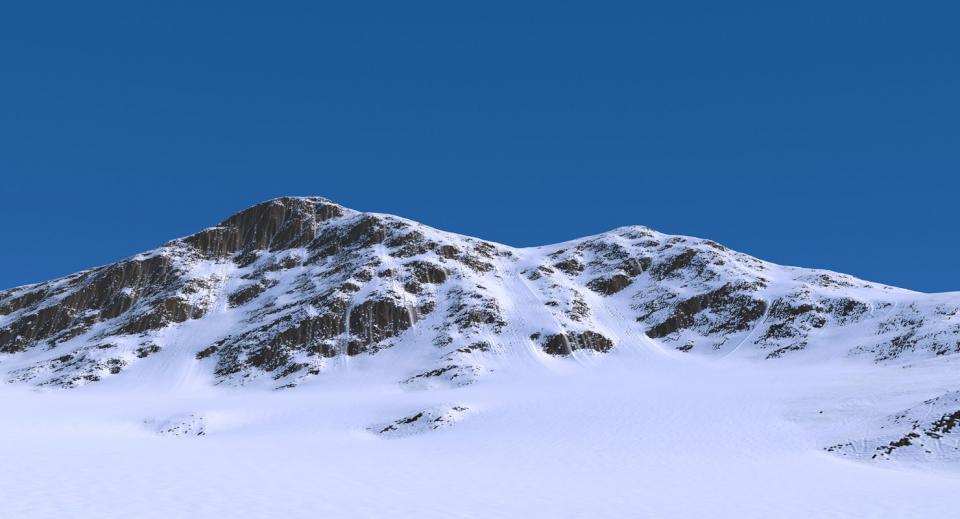 snow mountain christmas 3d model turbosquid