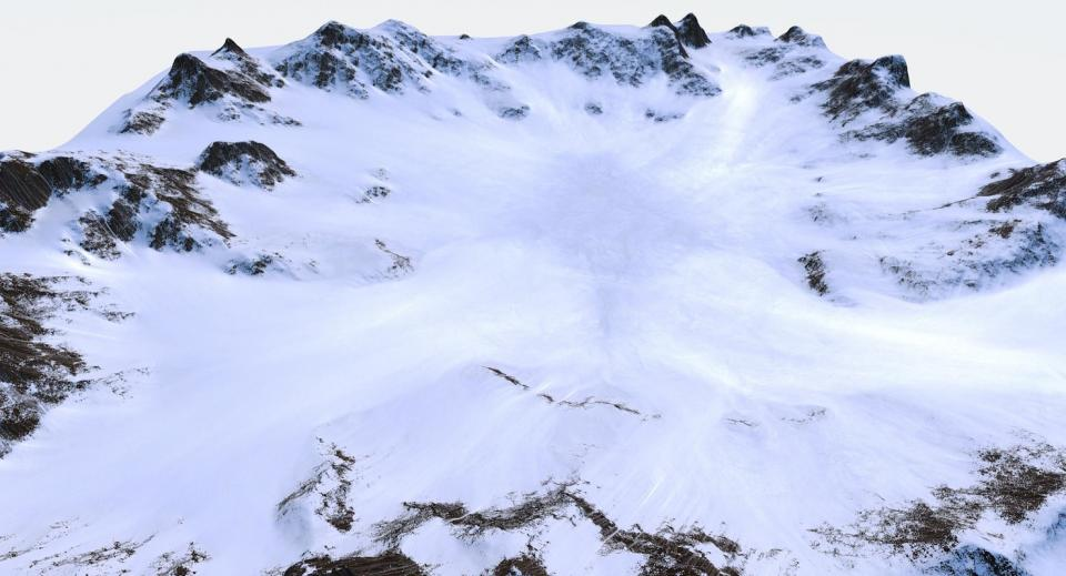snow ground 3d model turbosquid