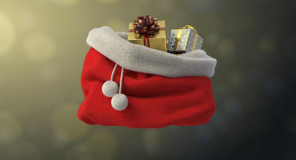 santas sack 3d model turbosquid