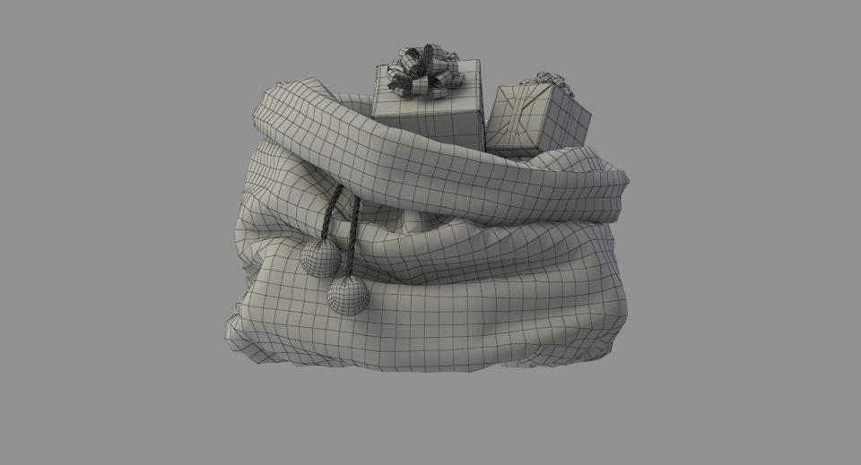 gifts from santa 3d model turbosquid 3dsmax vray