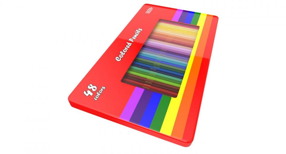 colored pencils 3d model turbosquid