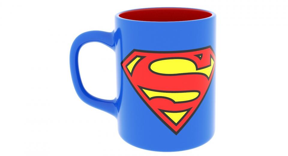 superman mug 3d model turbosquid