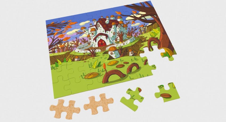 puzzle 3d model turbosquid