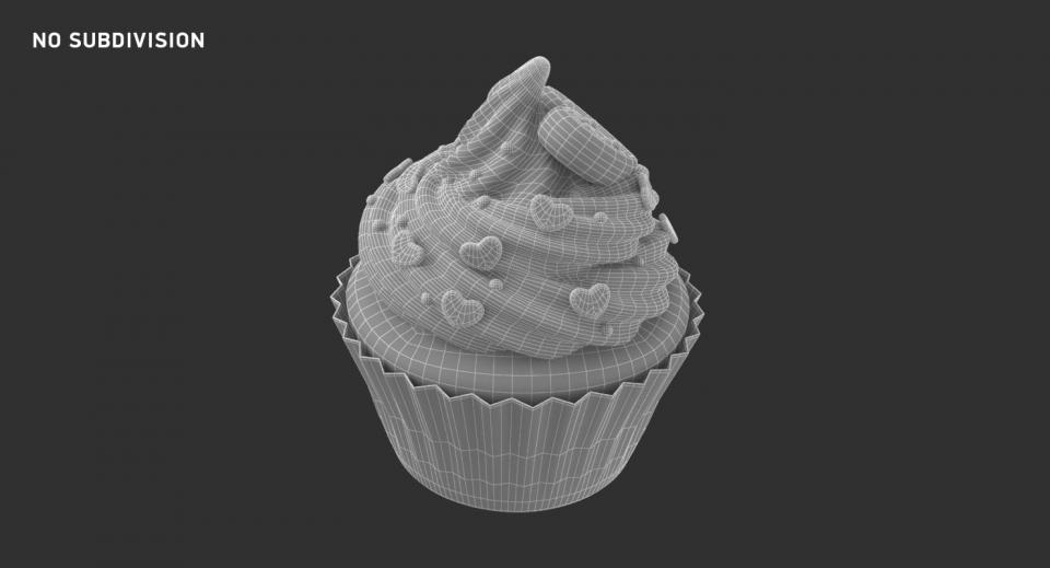 muffin 3d model turbosquid