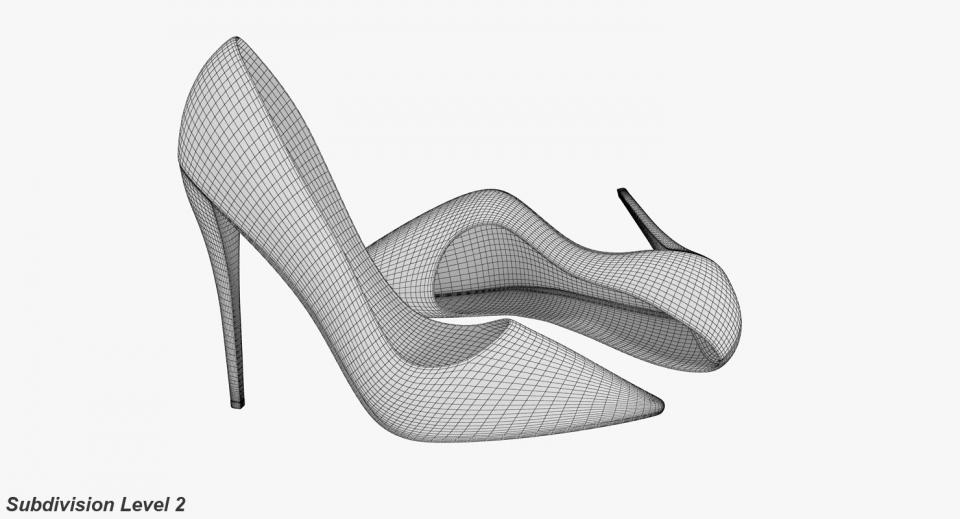 fashion shoes 3d model turbosquid