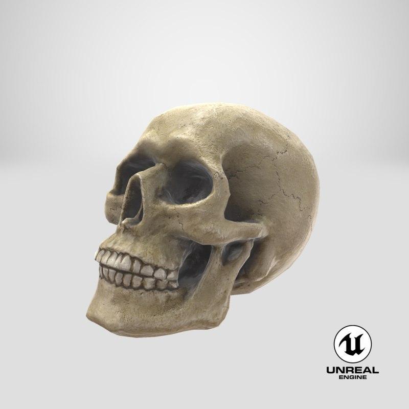 3d model unreal skull