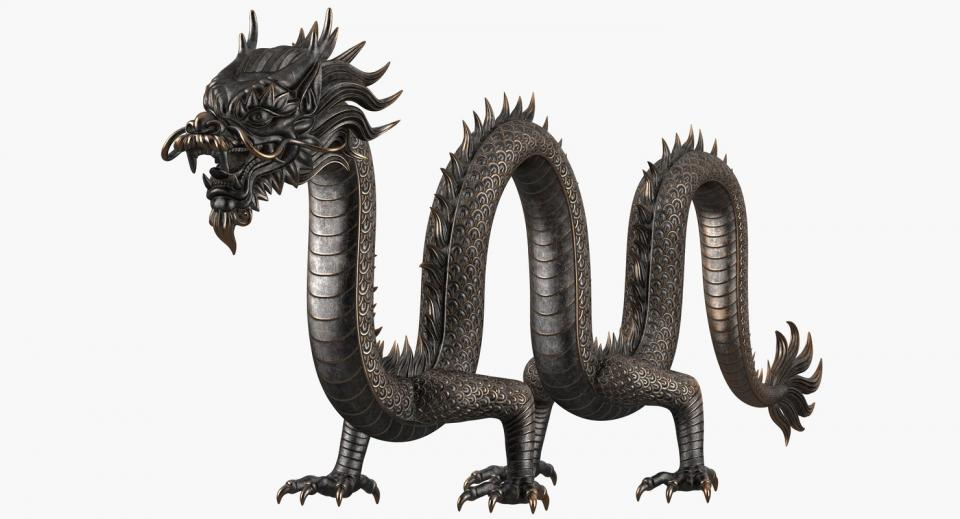 east asian dragon 3d model turbosquid