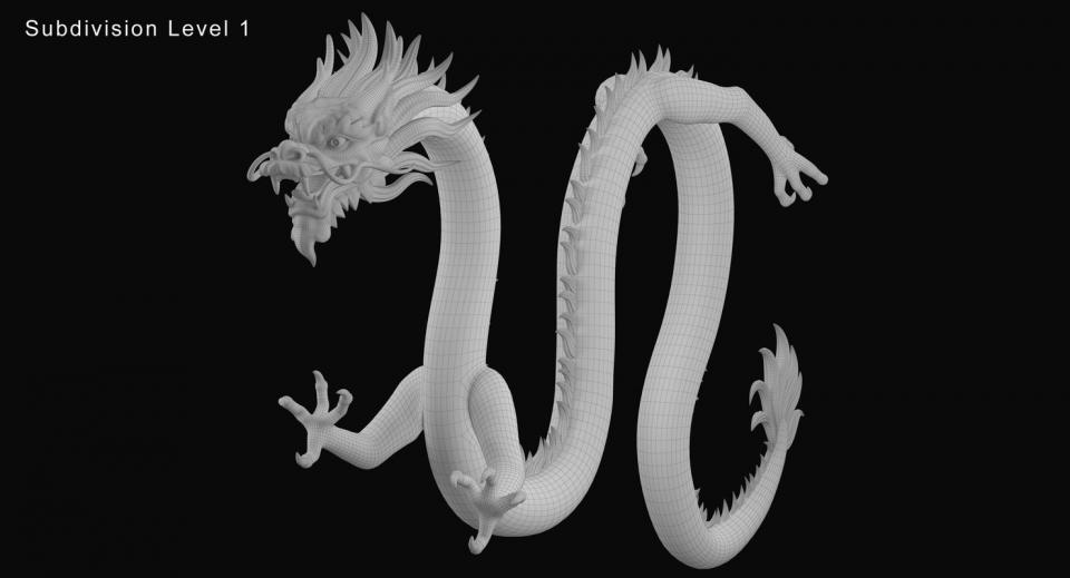 chinese dragon rigged 3d model turbosquid