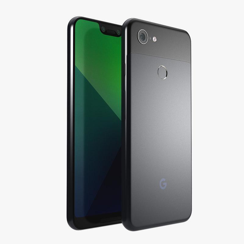 3d model google pixel 3 xl