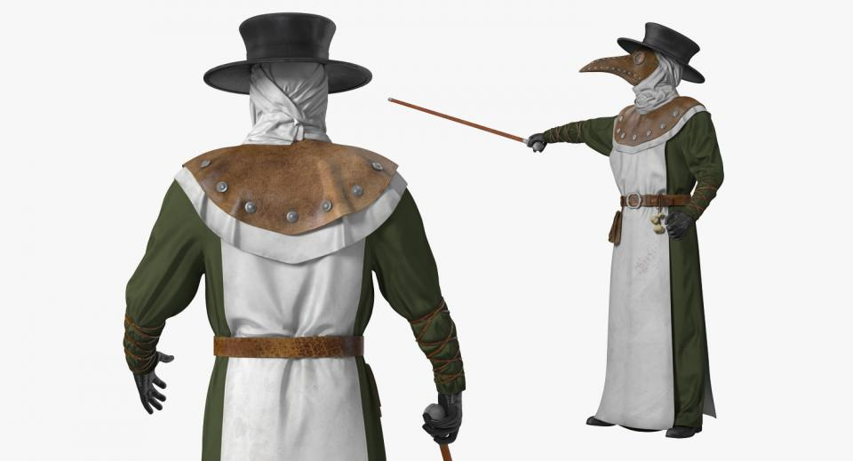 plague doctor costume 3d model turbosquid
