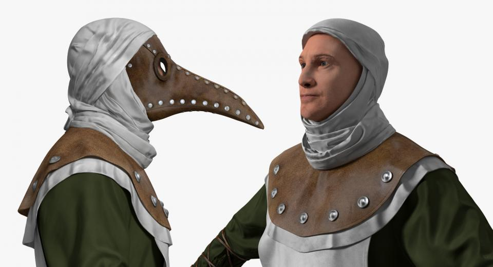 man with a plague doctor costume 3d model turbosquid