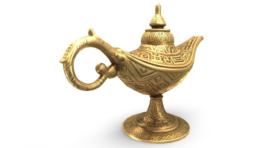 oriental decor lamp 3d model turbosquiid