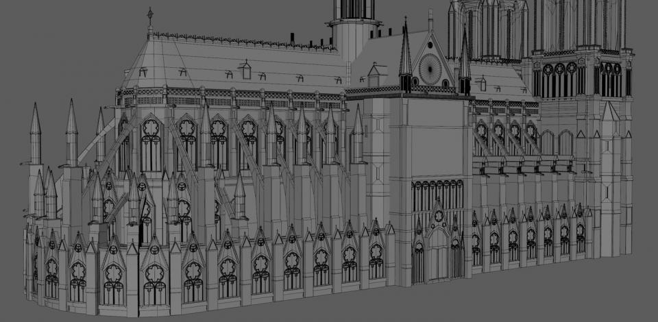 notre dame cathedral 3d model turbosquid