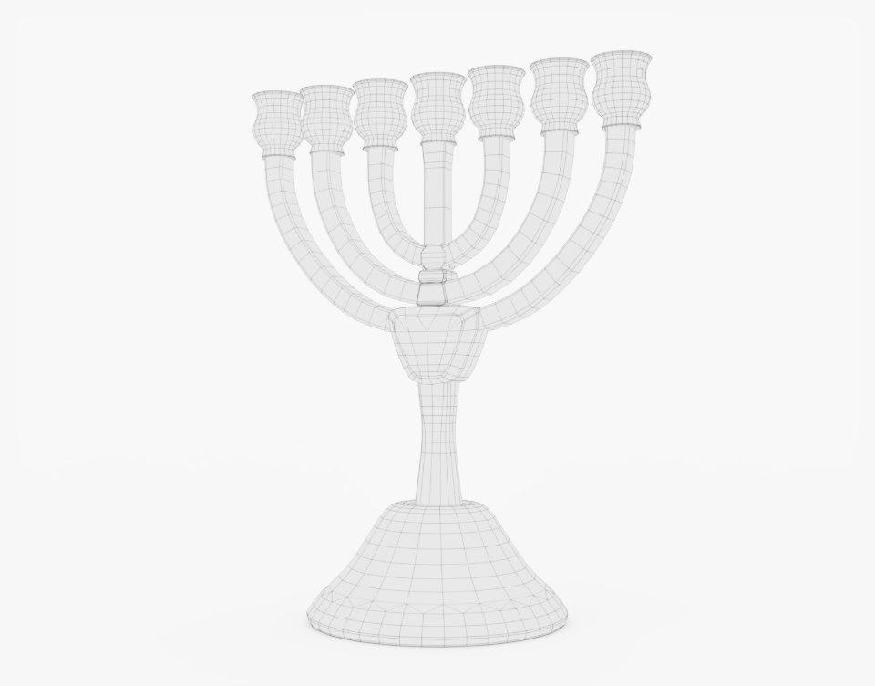 jewish celeration 3d model turbosquid