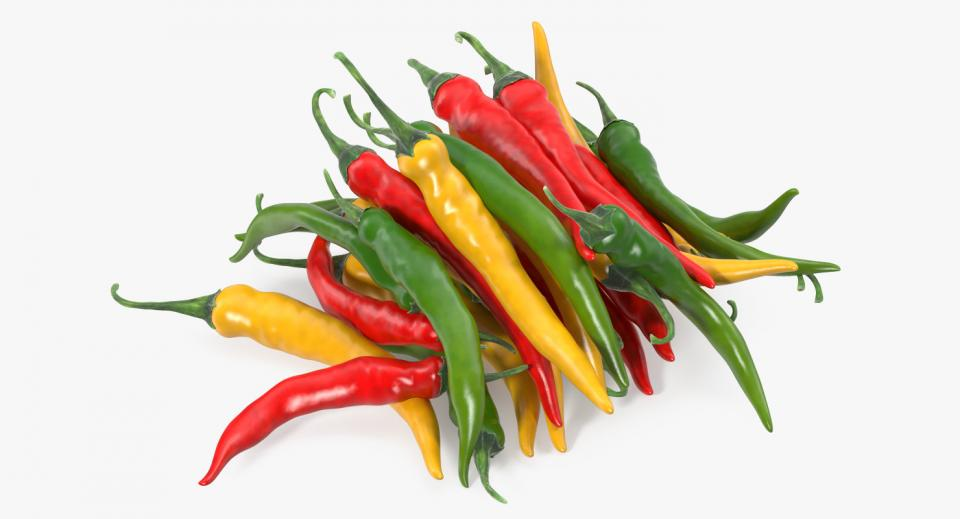 mexican peppers 3d model turbosquid