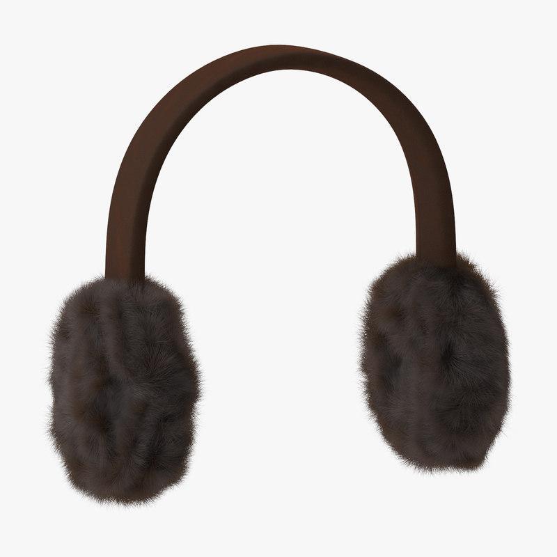 earmuffs 3d model turbosquid