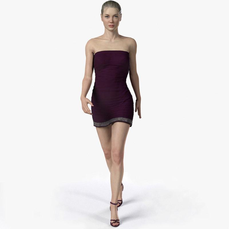 3d model of a full body female