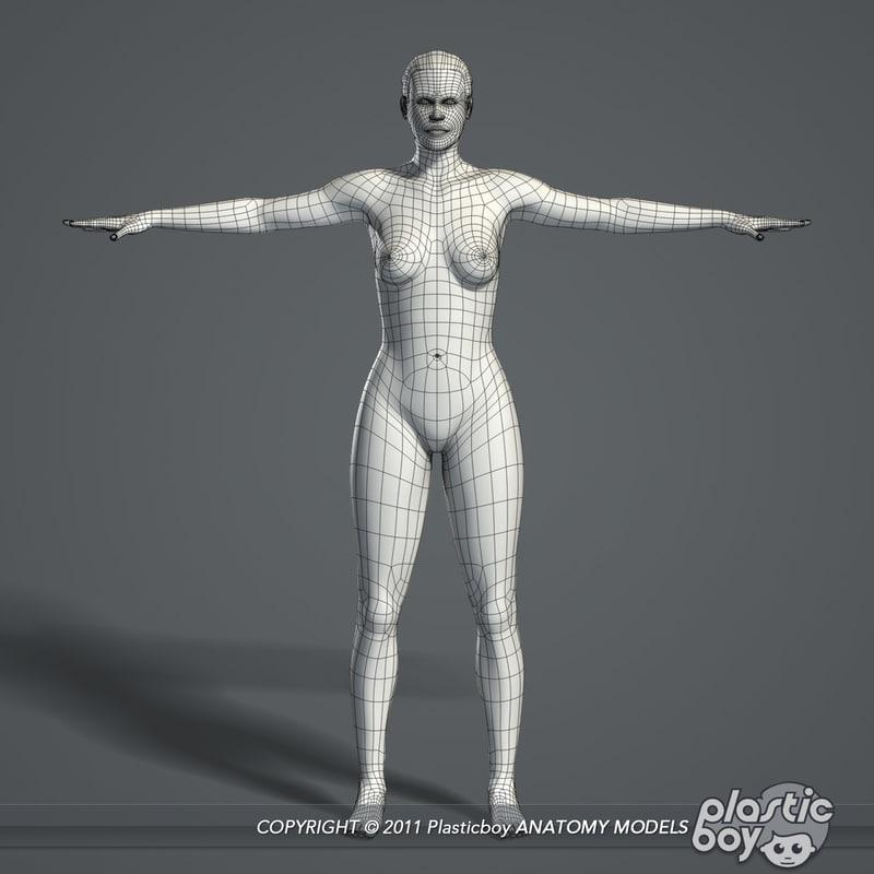 3d model female body
